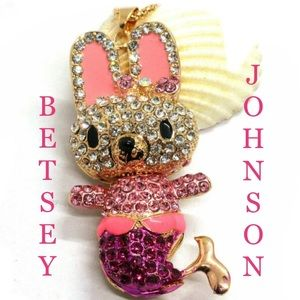 Betsey Johnson Bunny Necklace ➰🆕🌿🆕🌿